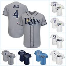 2019 4 Blake Snell 39 Kevin Kiermaier 29 Tommy Pham 8 Lowe 2 Yandy Diaz 24 Avisail Garcia 1 Willy Adames Rays Baseball Jersey From Projerseydealer