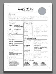 Free Best Resume Format Graphic Design