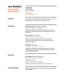 Estate Agent Cv Real Estate Resume Templates Samples How To Write
