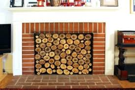 diy fireplace draft stopper how to cover up a fireplace cover the