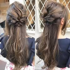 前撮り髪型2019年成人式かわいい清楚編み込みアップ