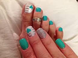 Turquoise Toe Nail Designs Teal Nail Art Teal Nails Teal Nail Art Nails