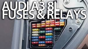 where are fuses and relays in audi a l cabin and engine fuse where are fuses and relays in audi a3 8l cabin and engine fuse box location