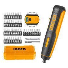 Máy siết vít cầm tay mini dùng dùng pin Lithum 4V Ingco CSDLI0403 Tặng kèm  40 mũi vít 25mm Cr-V và 1 mũi vít 50mm Cr-V - Máy khoan, máy vặn vít