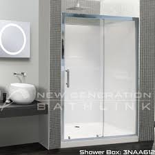 shower box 3 sides 1200 x900mm sliding door