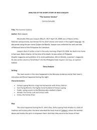 analysis of the short story of nick joaquin