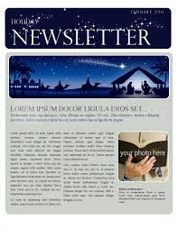 Newsletters Templates Christmas Newsletter Template Template Newsletter Templates