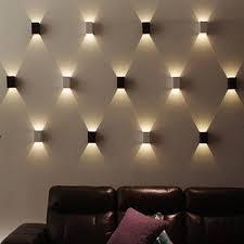 wall lighting living room. Lampu Dinding 3W LED Square Wall Lamp Hall Porch Walkway Living Bedroom Light Fixture Lighting Room E