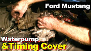 ford mustang timing cover gasket and water pump 1989 ford mustang 5 0 302 timing cover gasket and water pump repair