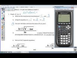 the quadratic formula with a calculator