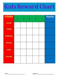Reward Chart Template Reward Chart Template Free Printable Excel Word Template