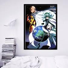 Een Punch Man Anime Serie Canvaskunst Schilderij Poster Muur Foto