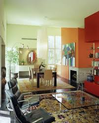 Painting adjoining rooms different colors Kitchen Painting Adjoining Rooms Different Colors Contemporary Dining Room And Accent Wall Area Rug Bold Colors Bookcase Bookshelves Chandelier Corner Fireplace Finefurnishedcom Painting Adjoining Rooms Different Colors Contemporary Dining Room