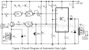 Automatic Light Operated Switch Using Ldr And Ic 741 Automatic Gate Light Circuit Engineering Projects