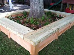 wooden tree planter boxes reclaimed pallet the arborist told us to do something to build up