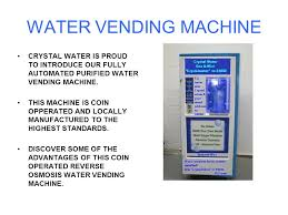 Coin Vending Machine For Water Inspiration Crystal Water CRYSTAL WATER VENDING WATER VENDING MACHINE CRYSTAL