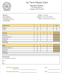 School Report Card Format Report Card Template Co Sample High School Format Hayatussahabah Co