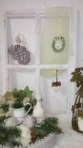 Fenster Deko Fensterrahmen Sprossenfenster Weiß Holz Shabby