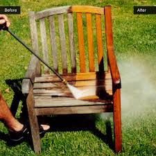 power washed teak furniture