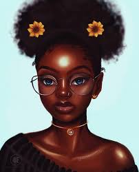Image result for melanin cartoons | Black girl art, Black love art, Black  art pictures