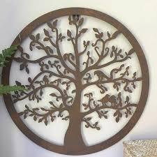 garden wall decor elegant decorative tree round metal wall panel garden art wall