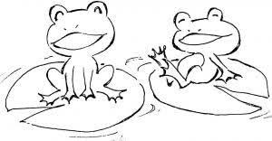 6月イラスト 無料フリー素材 カエル うみわたるのイラスト集 女の子の