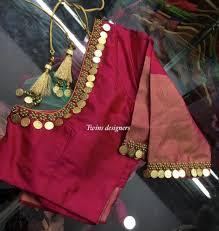 Designer Blouse Patterns For Pattu Sarees Blouse Designer Stylish Blouse Design Sari Blouse Designs