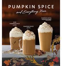 starbucks pumpkin e latte