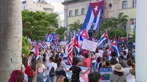 downtown Miami, calling for Cuban freedom