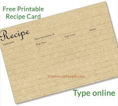Recipe Card Templates Free Free Recipe Cards Cookbook People