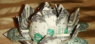 How To Make A Lotus Flower Out Of Paper How To Make An Origami Lotus Flower Out Of Dollar Bills