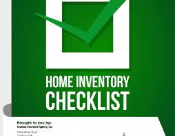 Home Inventory Checklist Anastasi Insurance Agency
