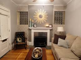 grey accent wall living room combined by white fireplace and