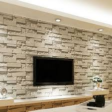 Wallpaper Designs For Living Rooms Brick Design Wallpaper