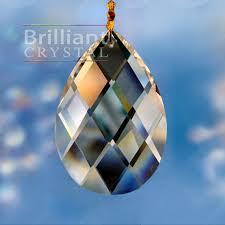 swedish almonds shape crystal chandelier beads bc3004