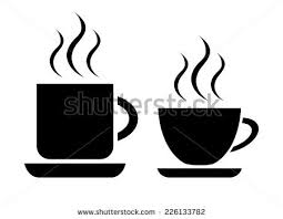 coffee cup silhouette vector.  Cup Coffee And Tea Cup With Cup Silhouette Vector S
