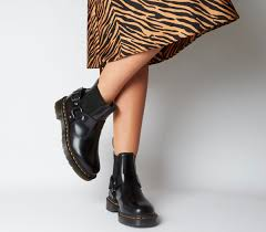 Comfortable, effortless, and versatile enough to wear these chelsea boots have a matte finish and are suited for rainy days, though you can wear them. Dr Martens Wincox Chelsea Boots Black Womens Chelsea Boots