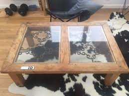 coffee tables with glass top reclaimed wood shabby chic distressed accent stand