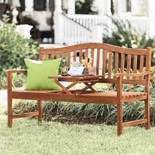 outdoor bench with built in pop up