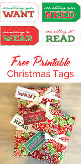 Free Printable Holiday Gift Certificates Beauteous Want Need Wear Read Christmas Tags DIY Parties Events And