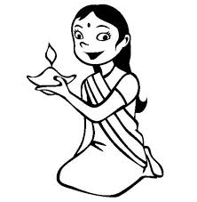 Small Picture Dress Up for Diwali Celebration Coloring Page NetArt