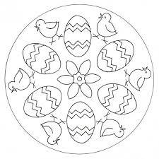 Mandala Kuriatka Kraslice Kraslice Knutselen Pasen Pasen En