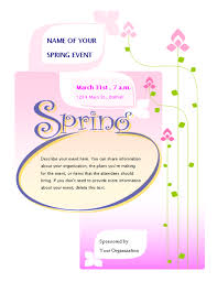 Spring Event Flyer Spring Event Flyer Entertaining Party Pinterest Event Flyers