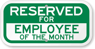 employee of month reserved for employee of the month sign sku k 8740