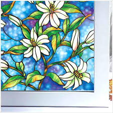 stained glass window stickers colorful g vine window static cling glass non adhesive frosted stained glass window
