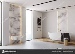 Weiß Und Marmor Badezimmer Ecke Toiletten Stockfoto