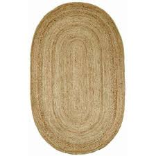 nuloom rigo jute natural 8 ft x 10 ft oval area rug