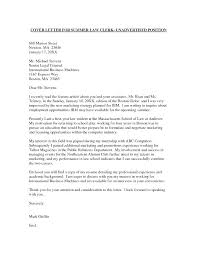 Law School Cover Letter Examples Cover Letters Harvard