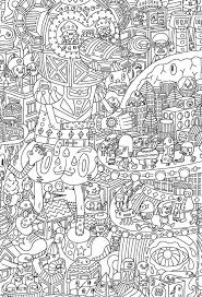 Small Picture Very challenging coloring page for Adults Free Printable Enjoy