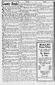 BW Southward County Deeds 28 Mar 1920 Visalia Times Delta - Newspapers.com